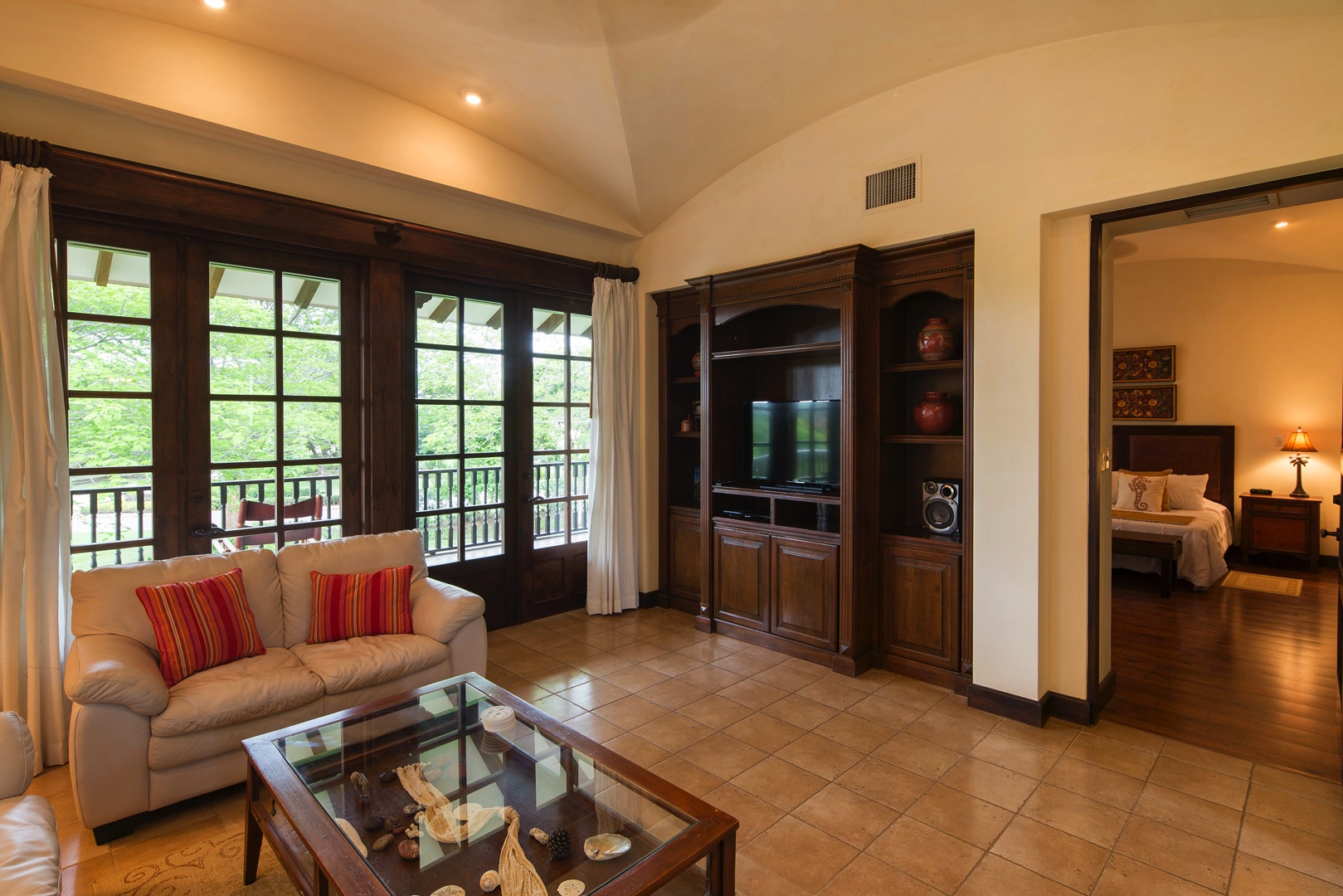 Access to balcony and master bedroom