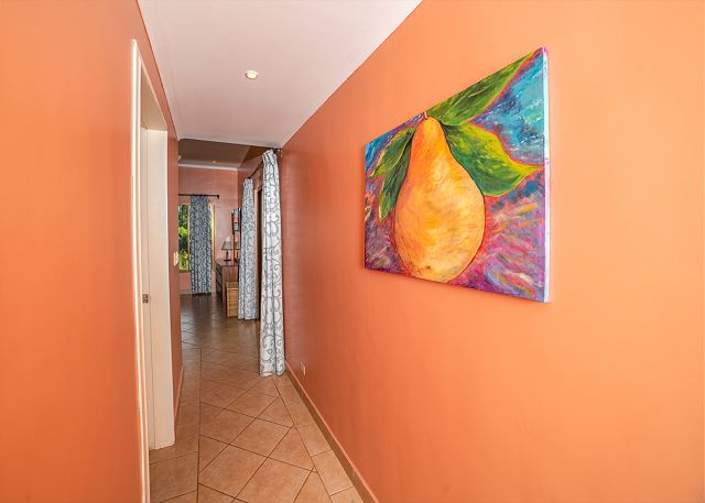 The hallway leading to the bedroom