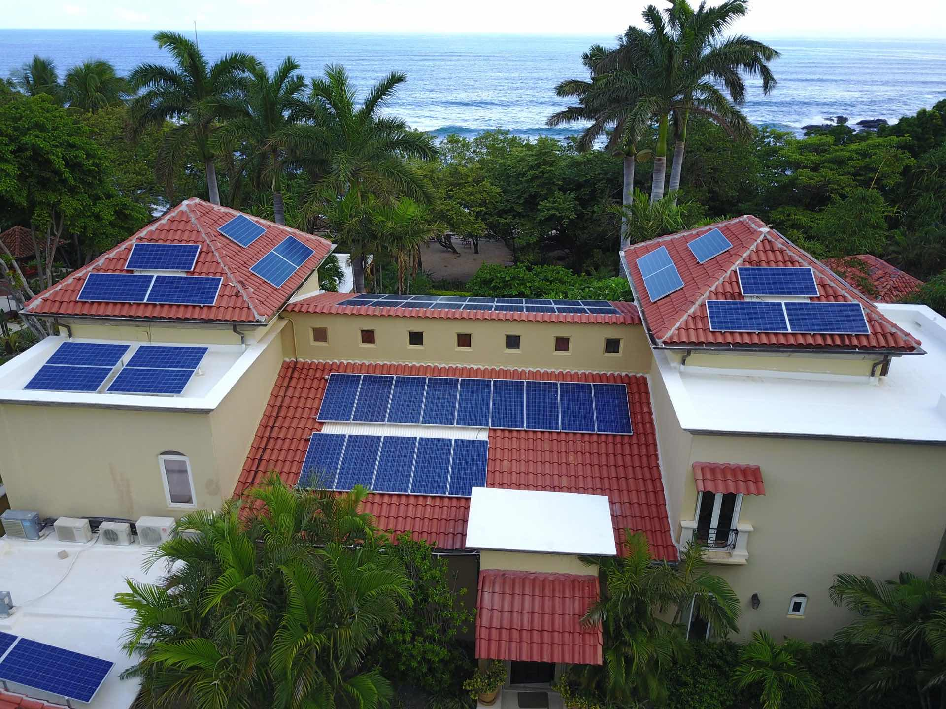 Solar panels make Casa de Luz easy on the environment