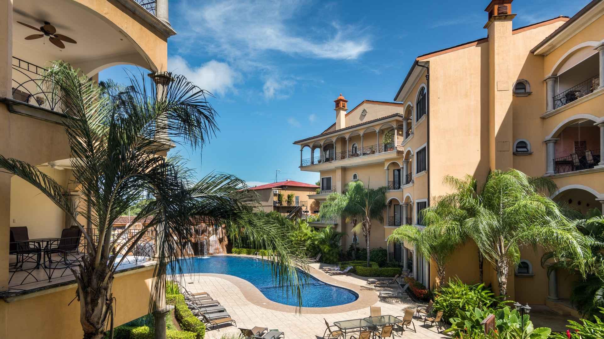 Sunrise resort with oversized pool