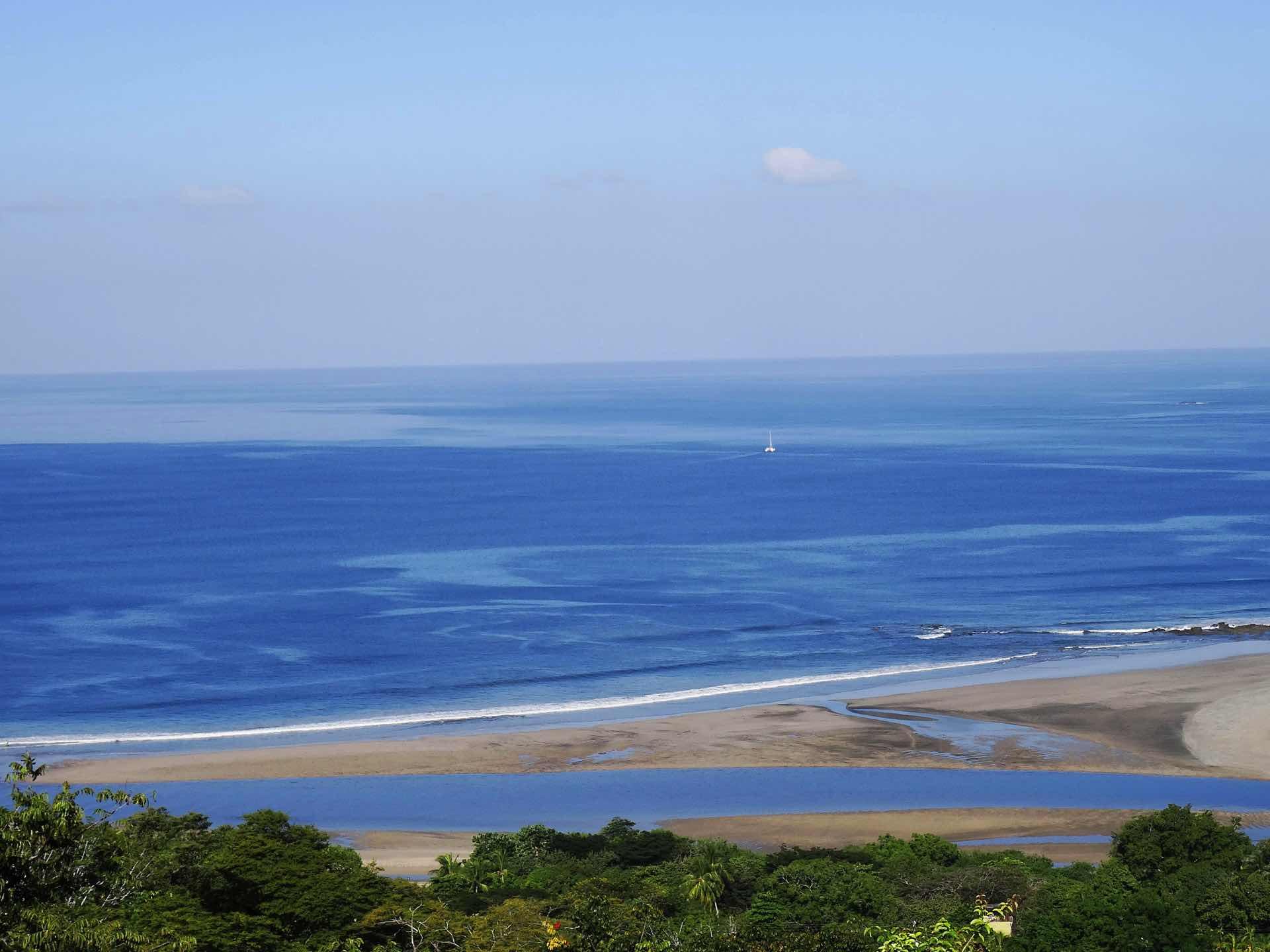The Las Baulas estuary as it meets the ocean in front of Casa Xa