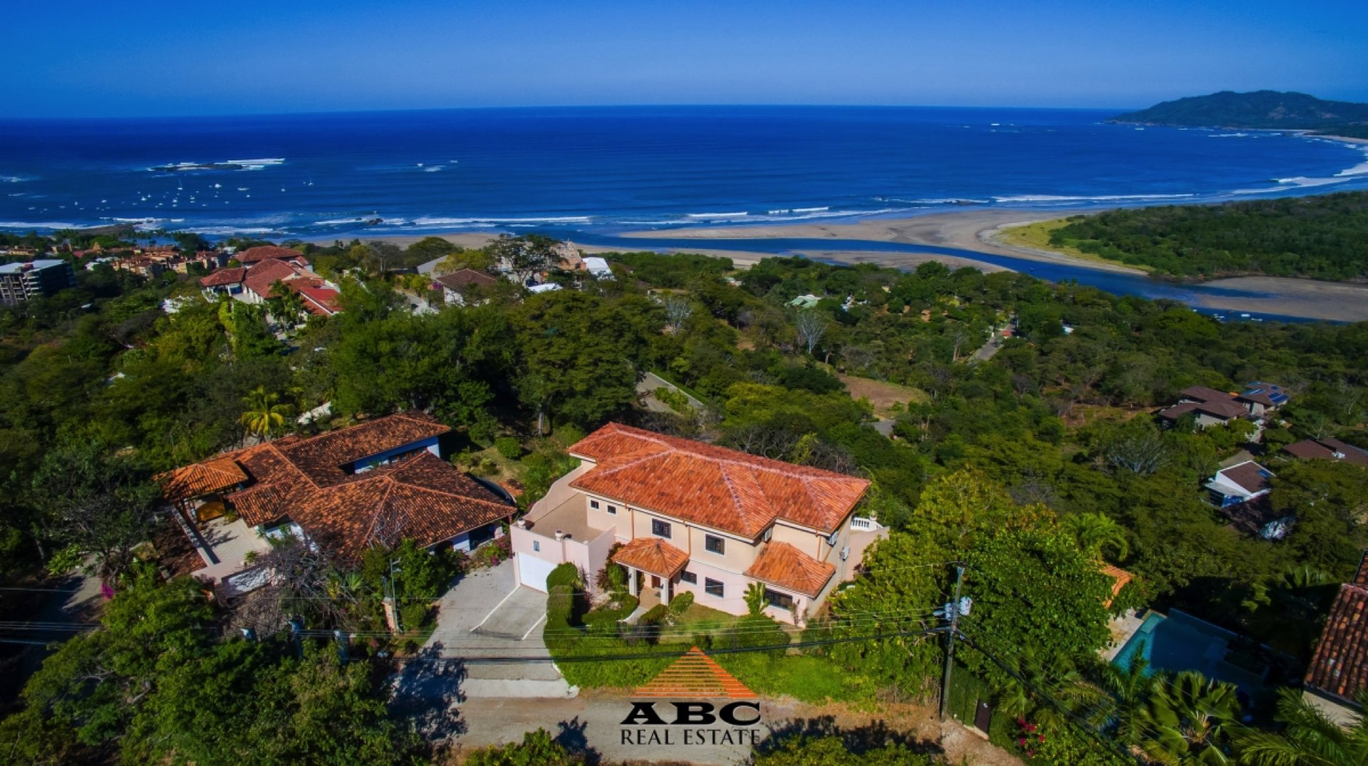 Panoramic view from a Tamarindo hill