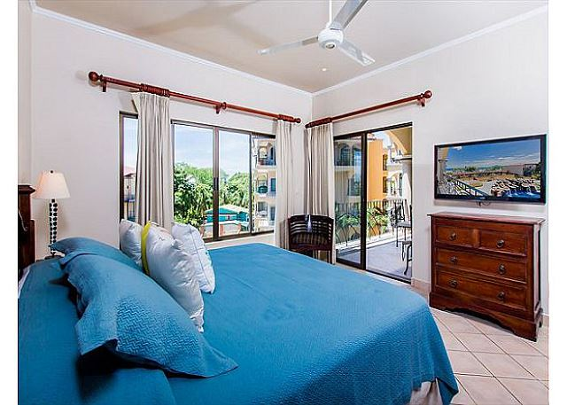 The master bedroom opens onto terrace