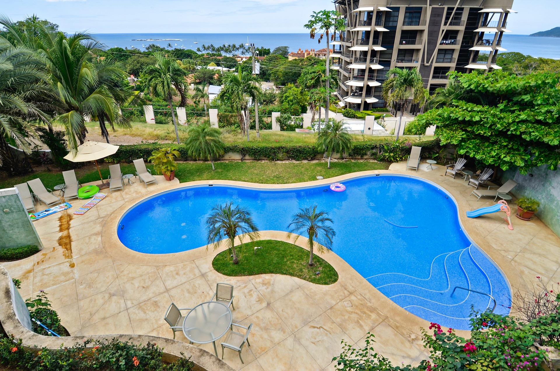 Huge communal pool with views