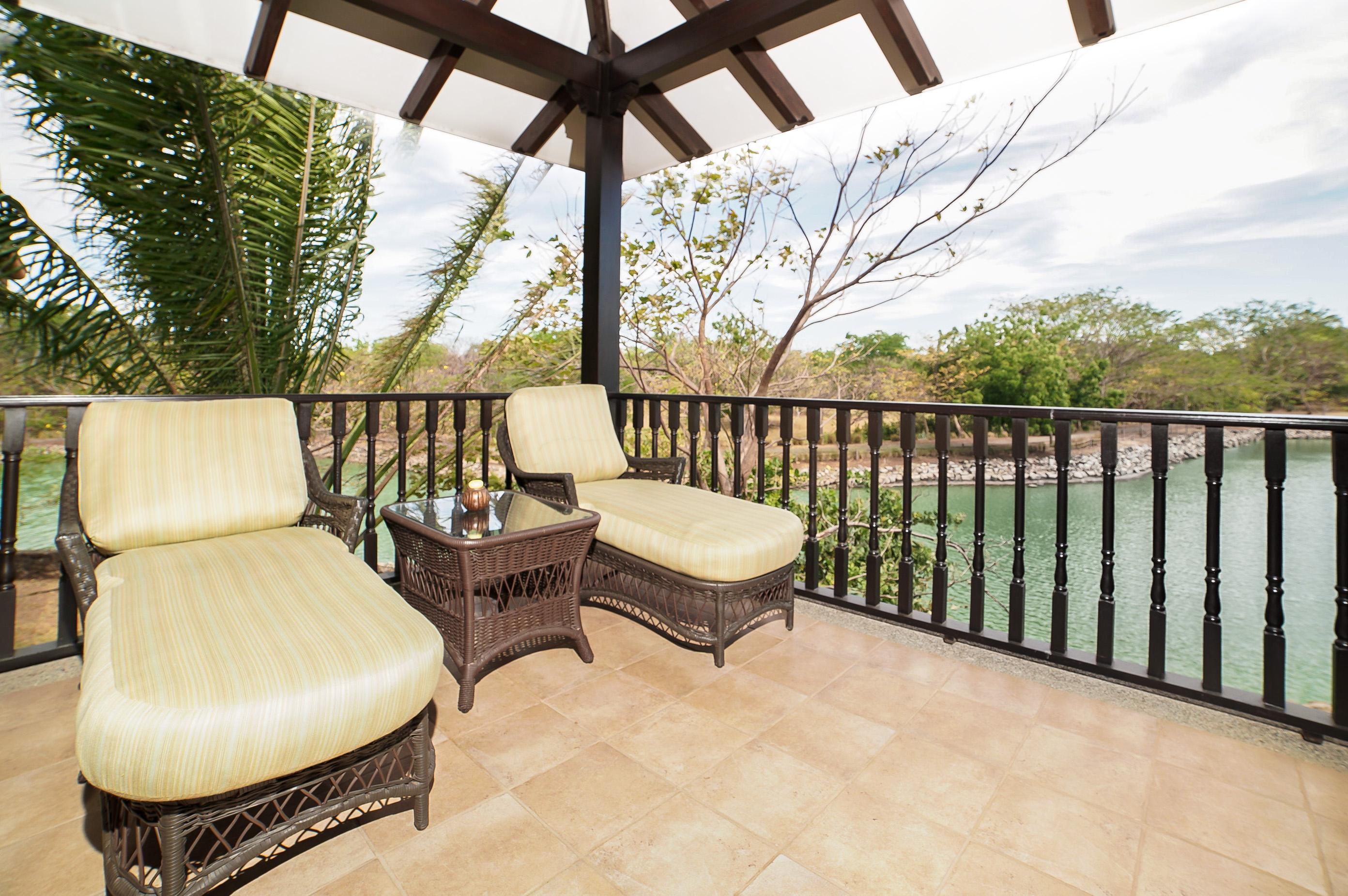 Lounge on the upstairs balcony