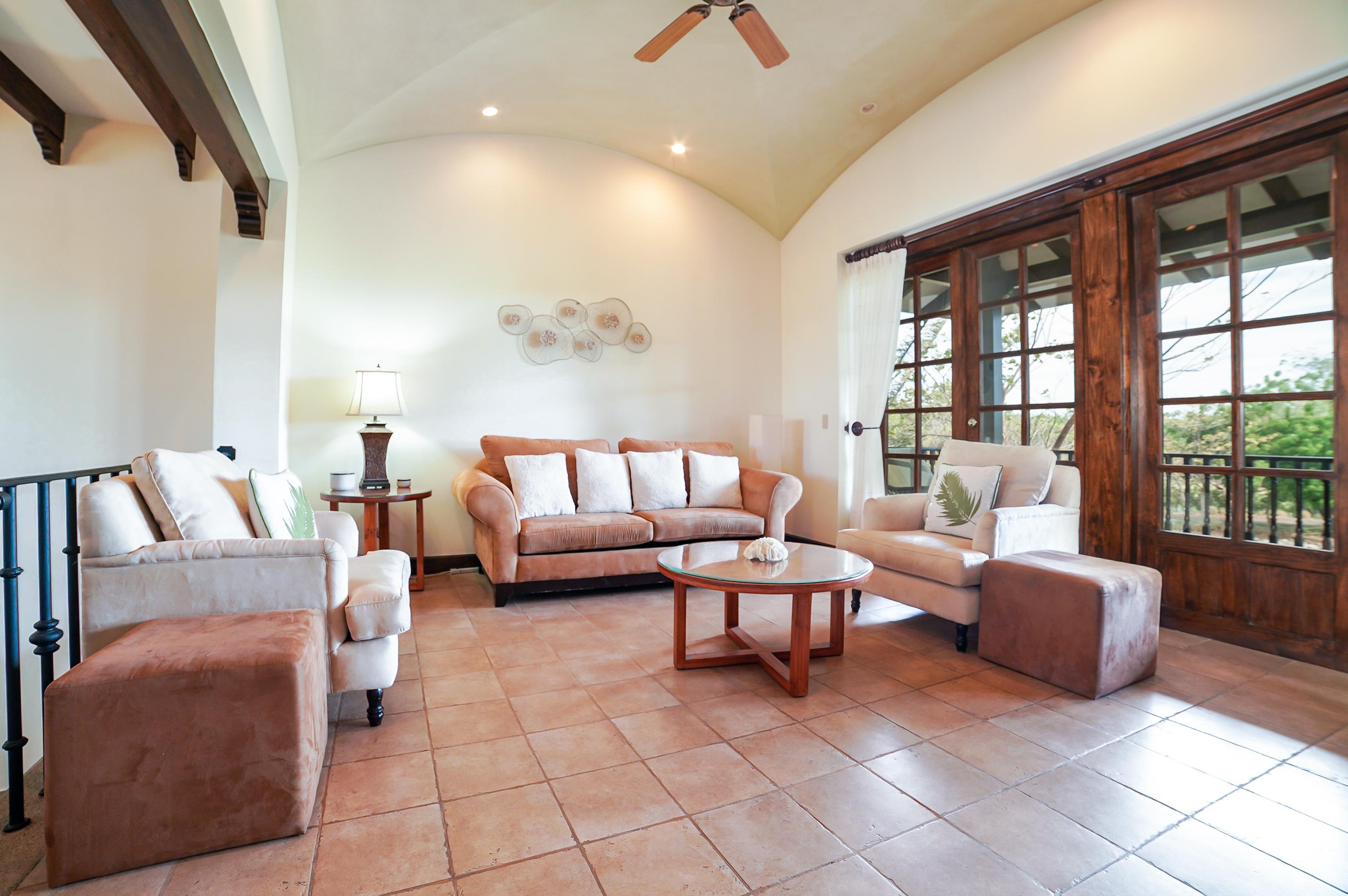 Spacious upstairs living area