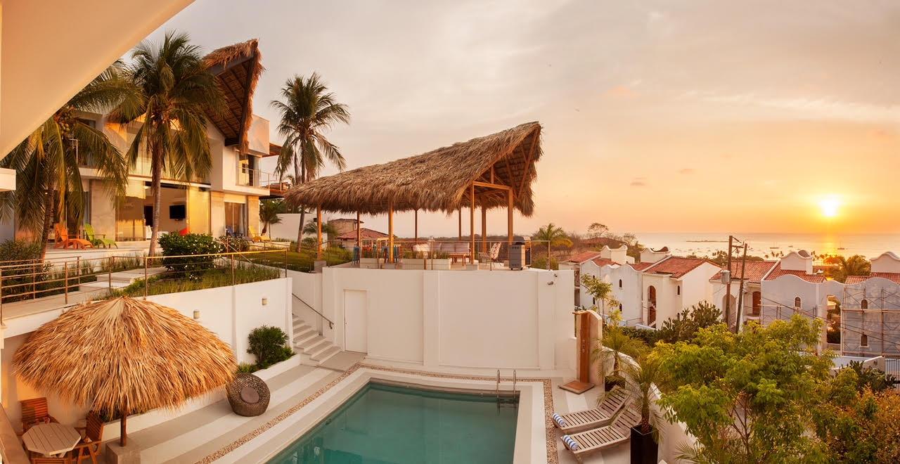 Beautiful sunset over Tamarindo at an amazing house