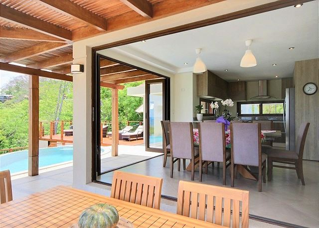 Dining area outdoor and indoor