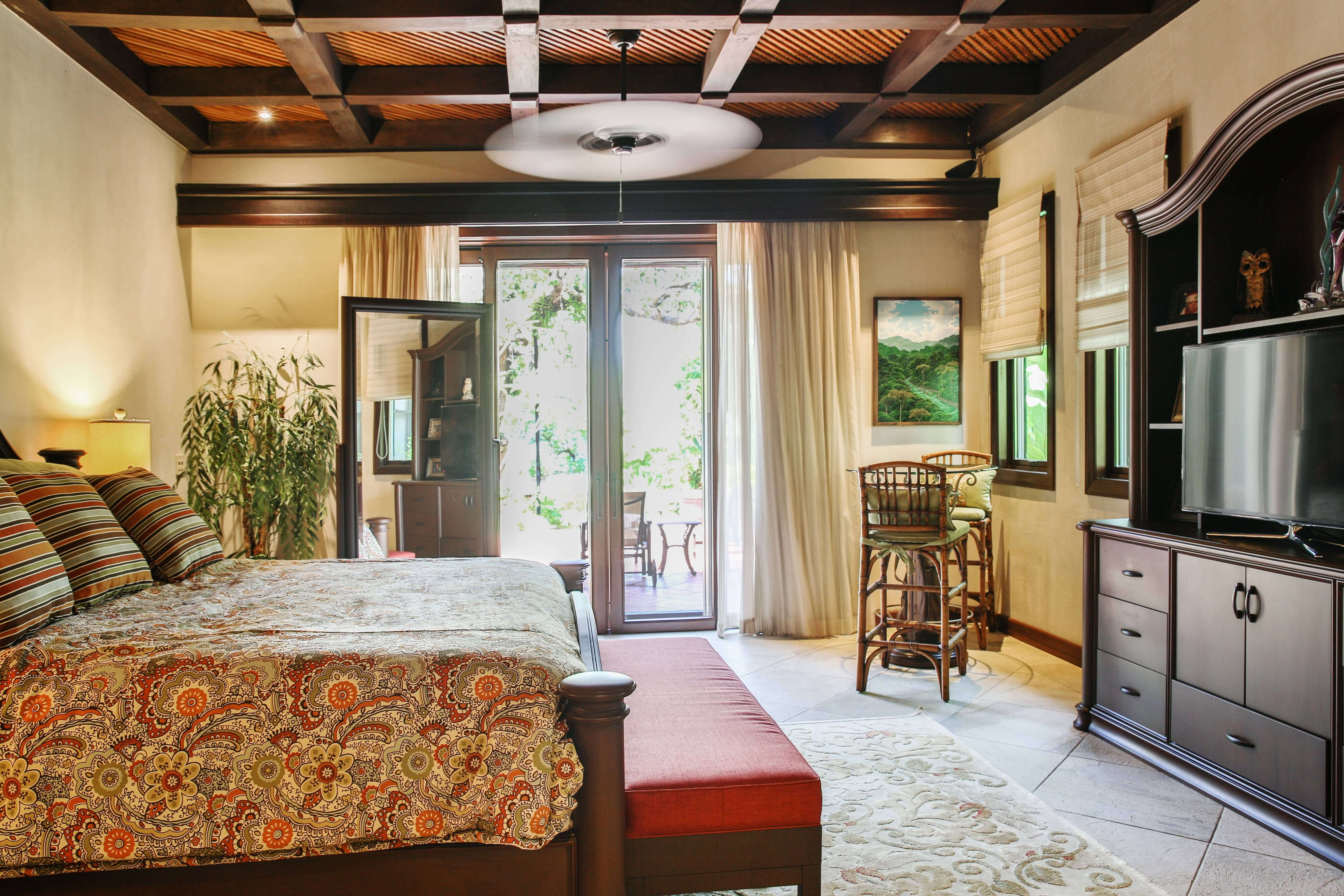 Bedroom with king sized bed