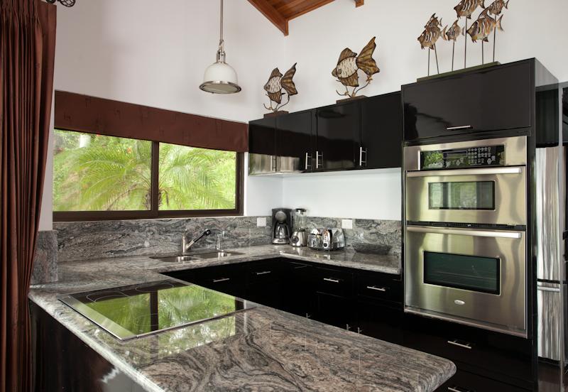 The beautiful kitchen at Casa Colibri