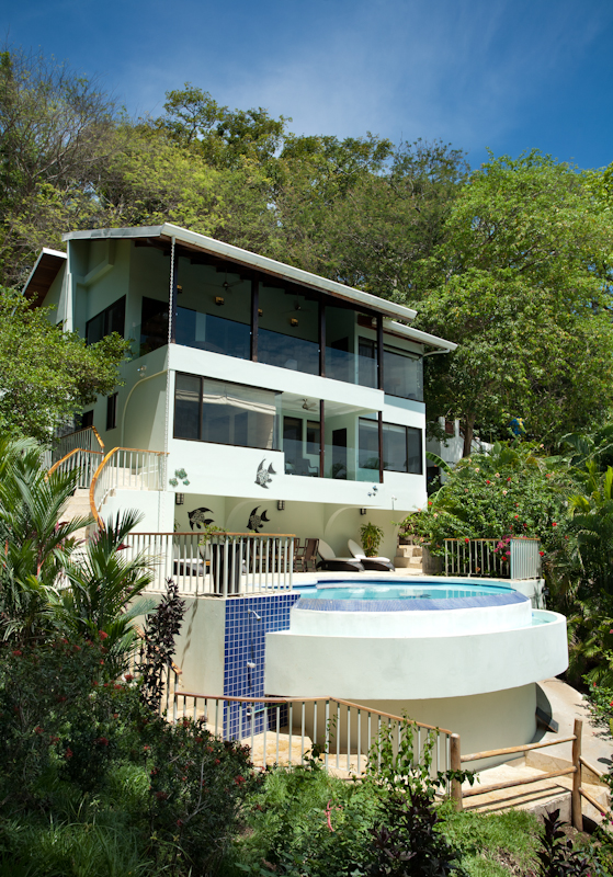Three levels including pool and deck on the lowest level