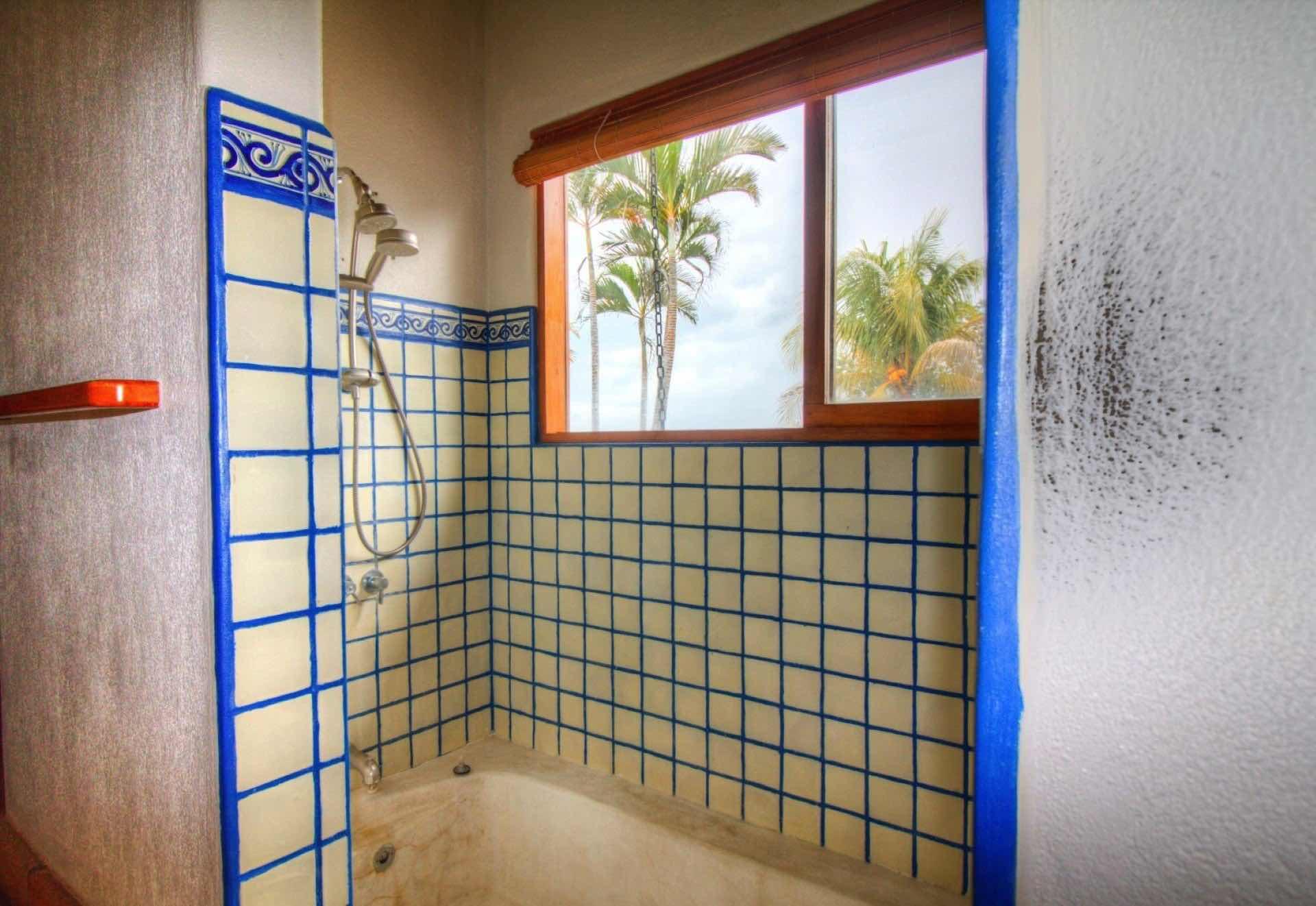 Bathroom with showerheads