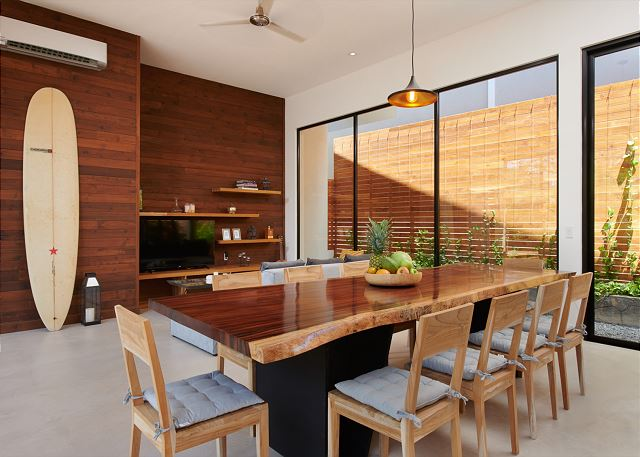 Gorgeous hardwood dining room table