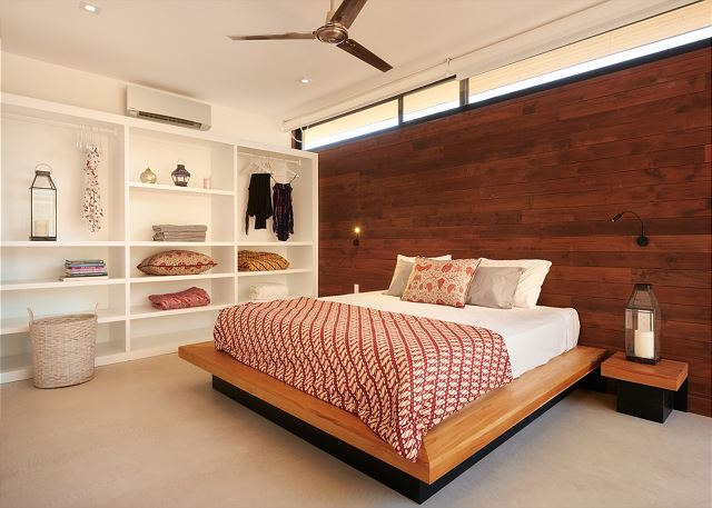 Spacious bedroom with plenty of room for your belongings