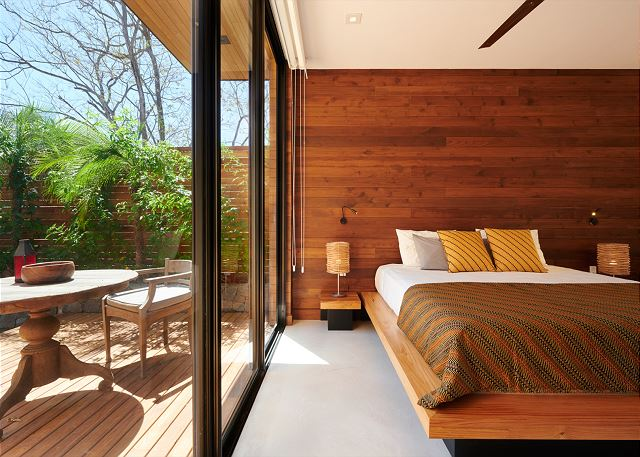 Sliding glass doors bring the outside in