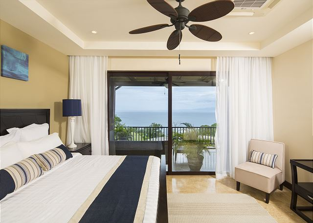 Master suite with seascape panorama