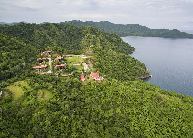 Azul Paraiso's jungle hillside location overlooking the bay