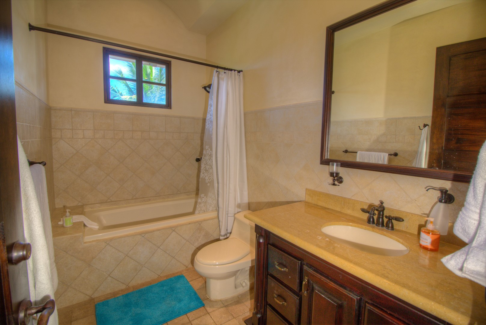 Bathroom with shower and tub