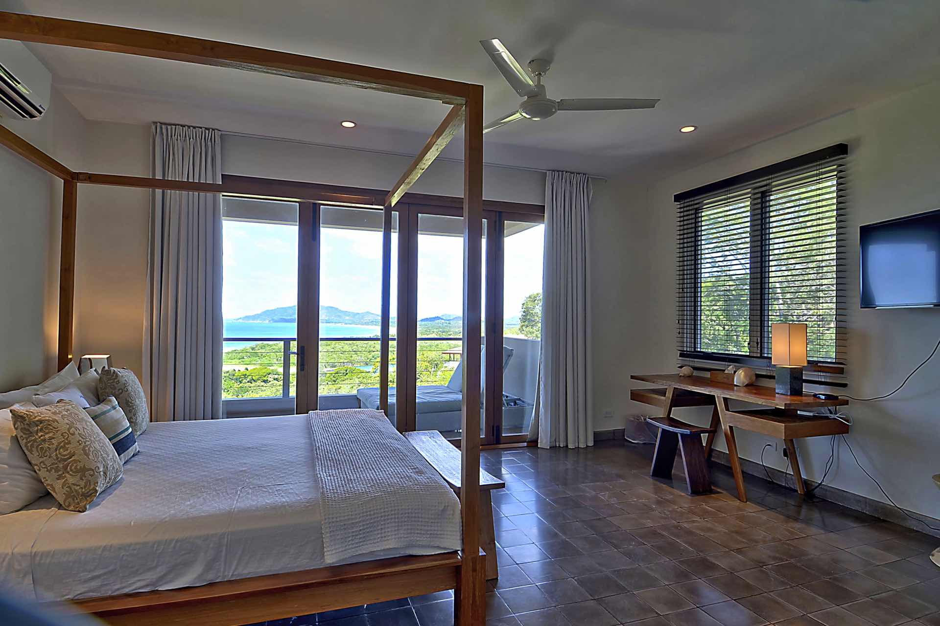 Master bedroom with spectacular view
