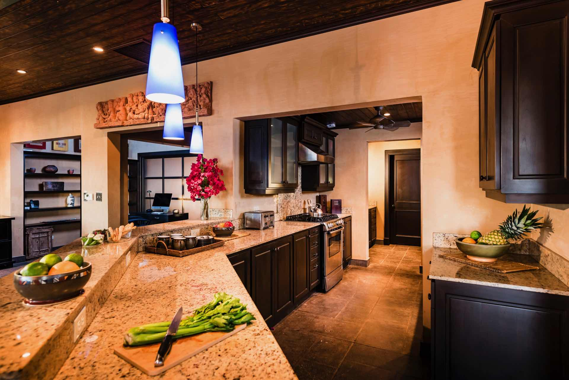 A spacious kitchen equipped with everything you need
