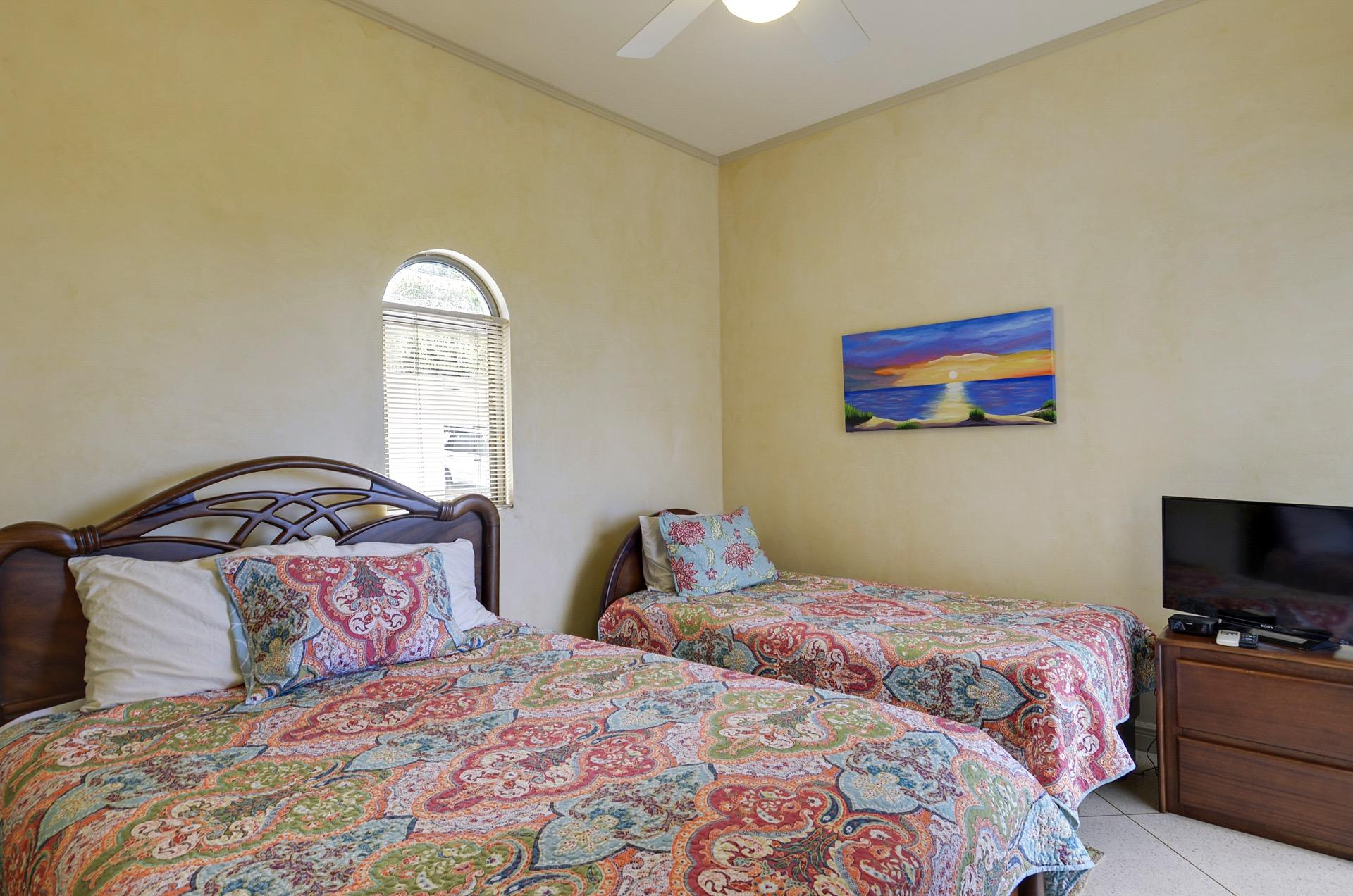 Guest Bedroom with Queen & Twin Bed