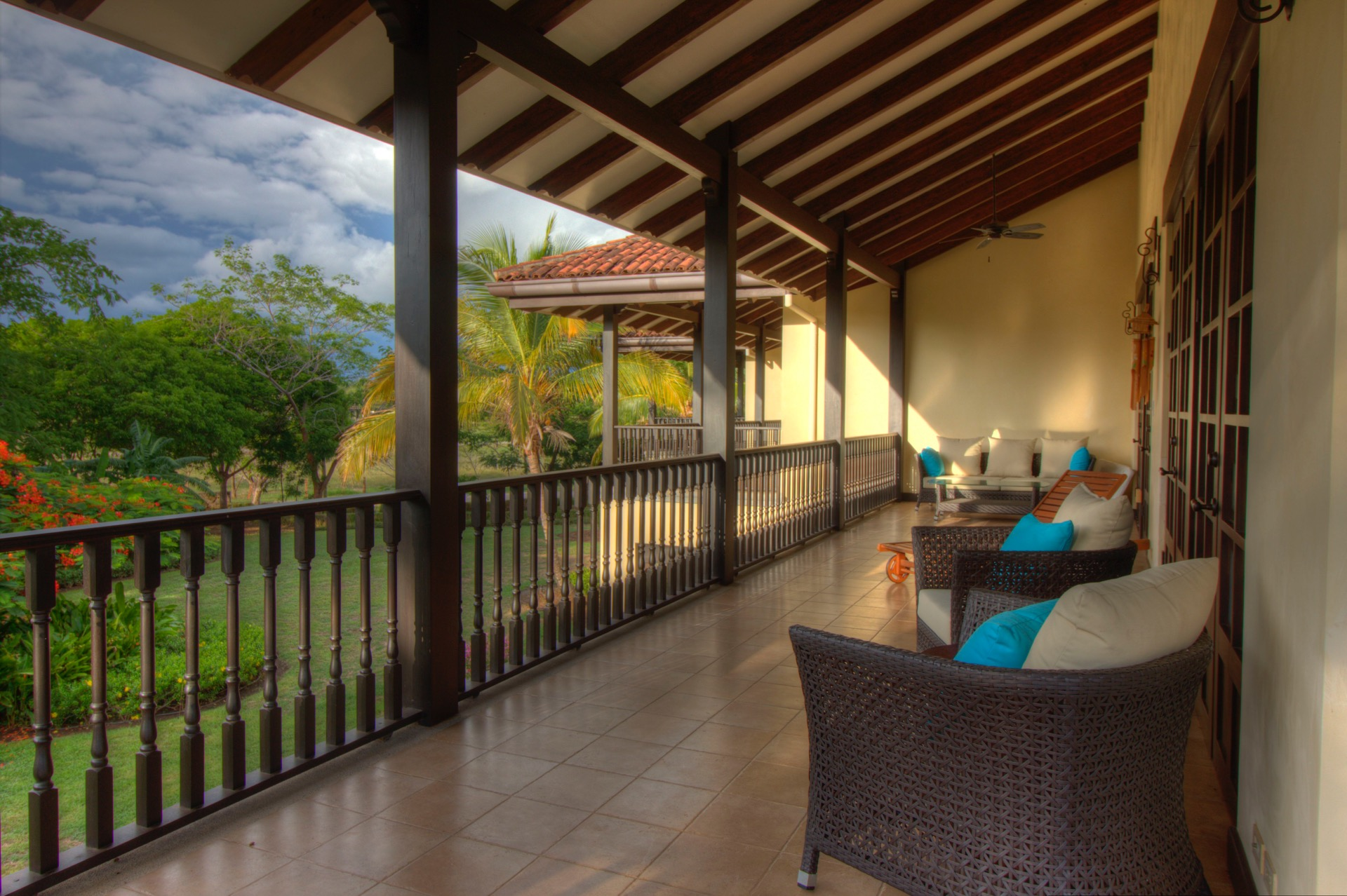 Private balcony with outdoor sitting