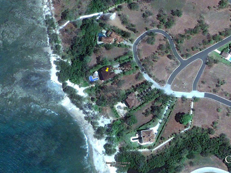 Casa Mar Azul's location