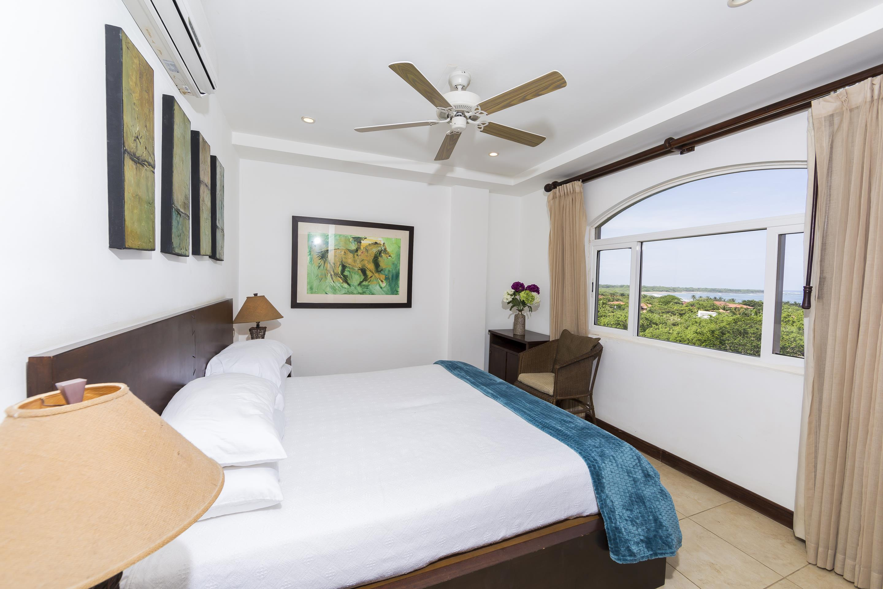 Guest bedroom with ocean view