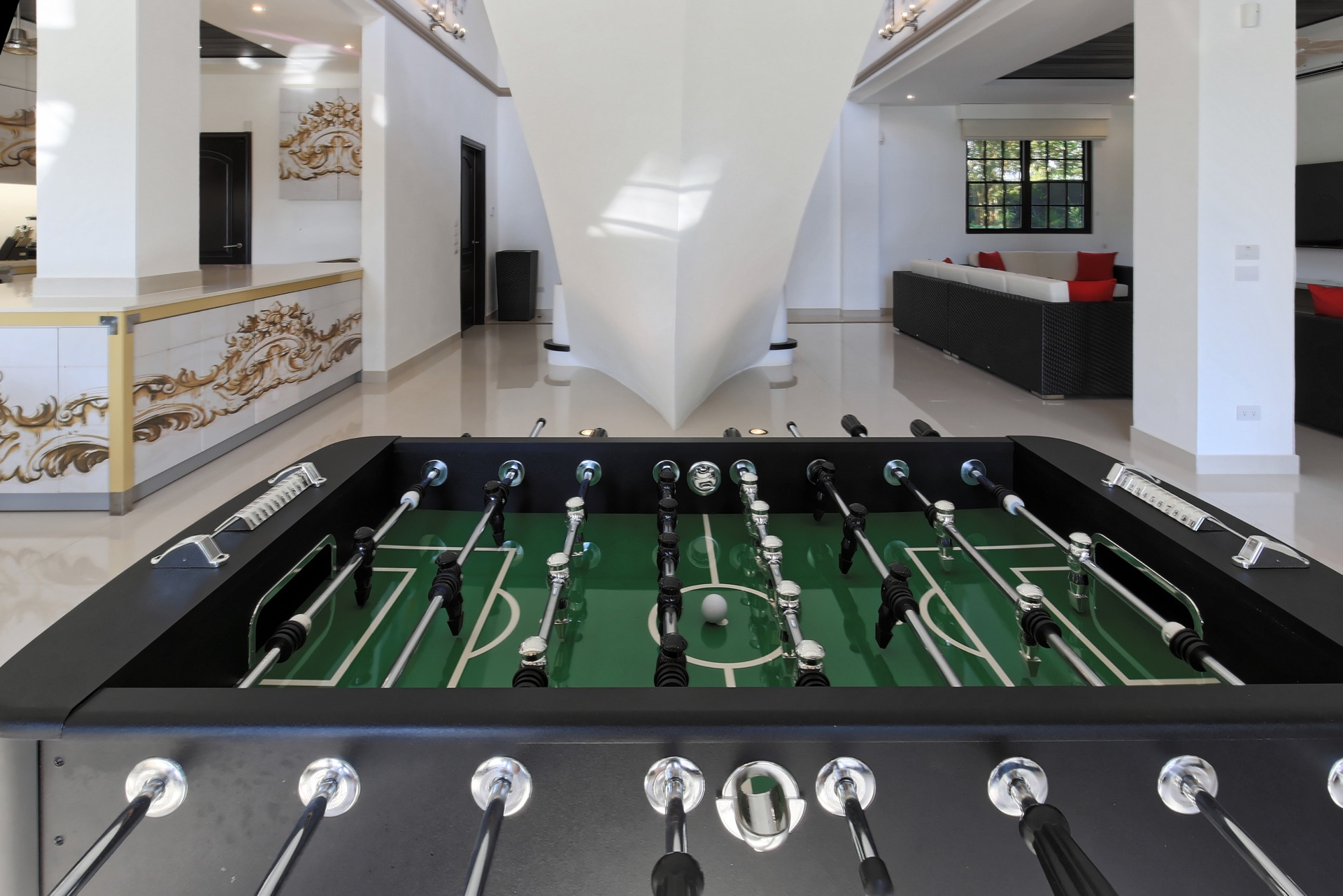 Enjoy some time off with the good ol' foosball