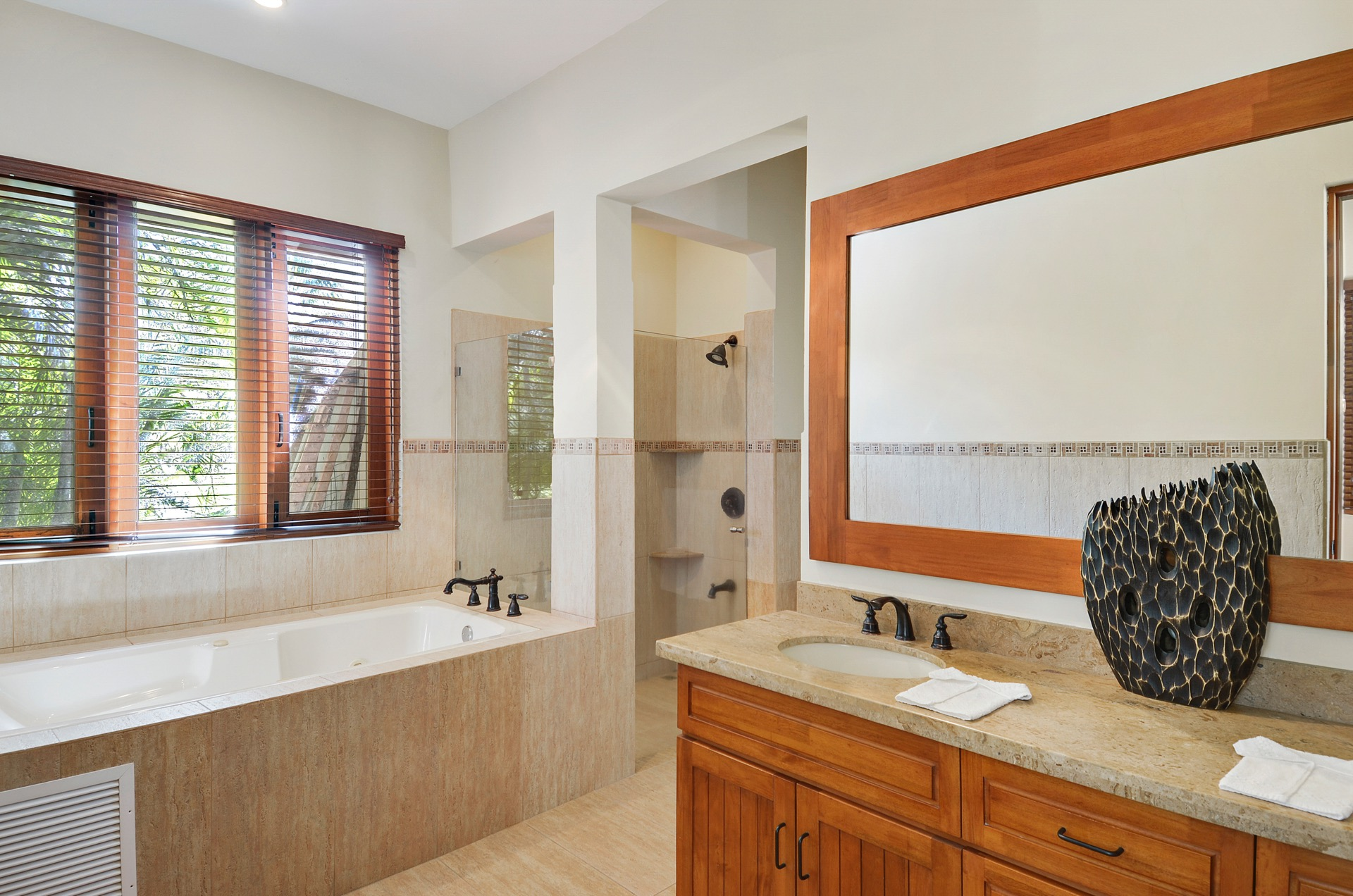 Shower or tub? Your choice!