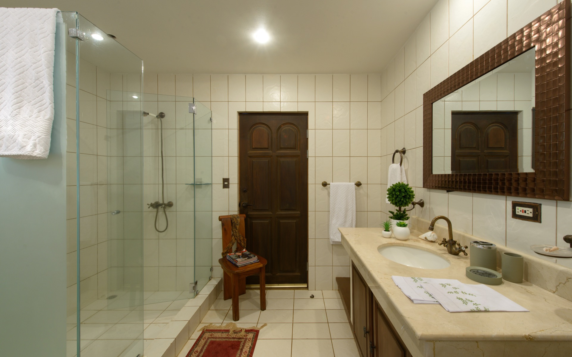 Another full bathroom with spacious shower