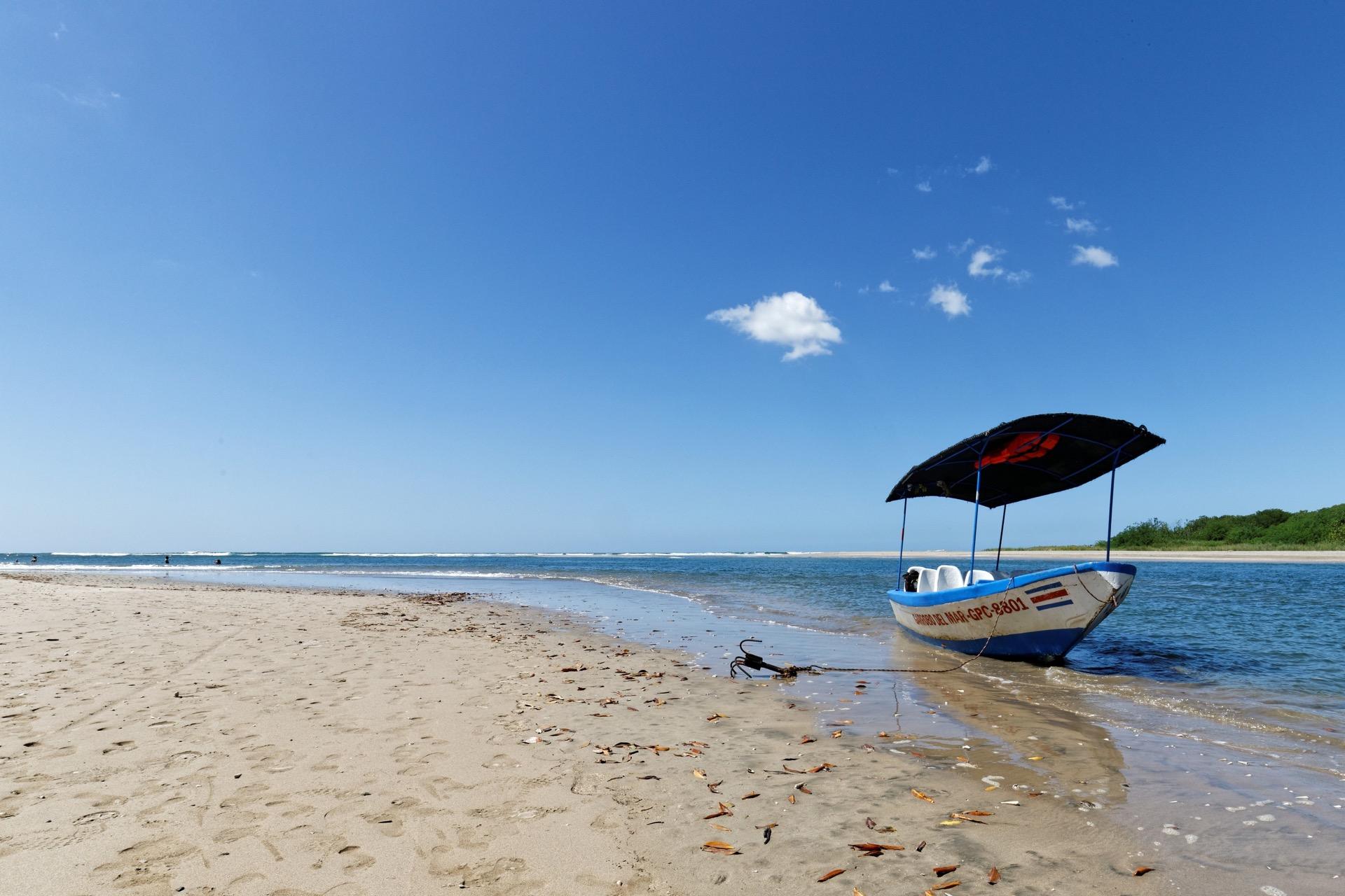 Panga next to the Tamarindo estuary