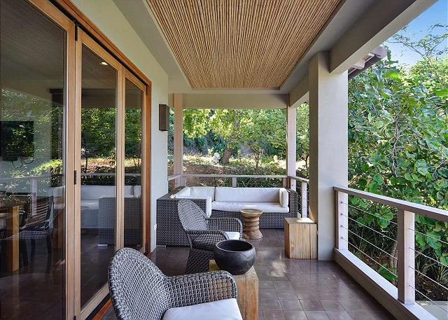 Balcony with outside sitting