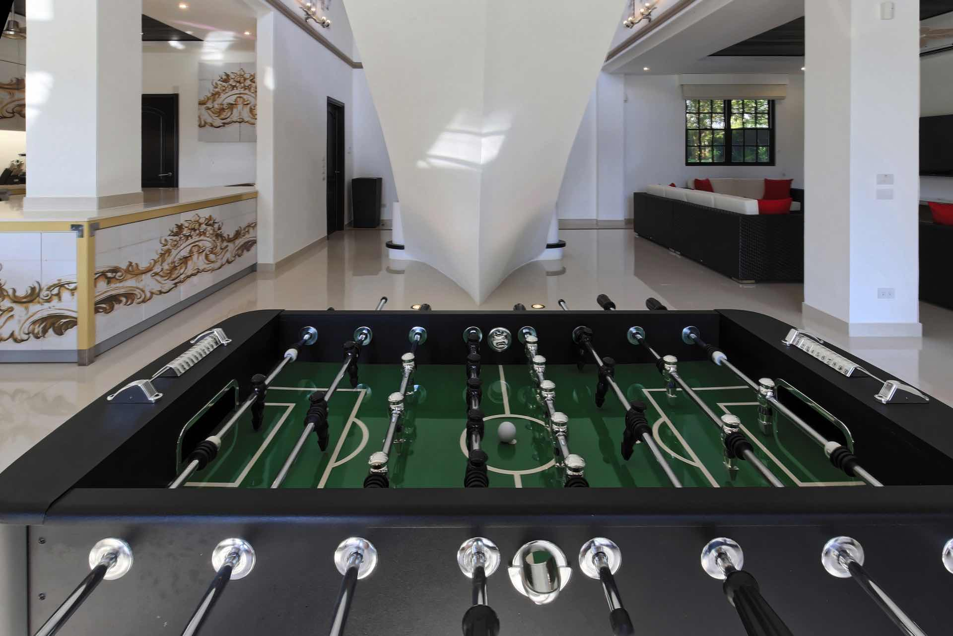 Enjoy some time off with the good old foosball