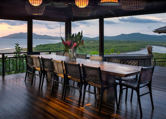 Enjoy dining with an incredible ocean view