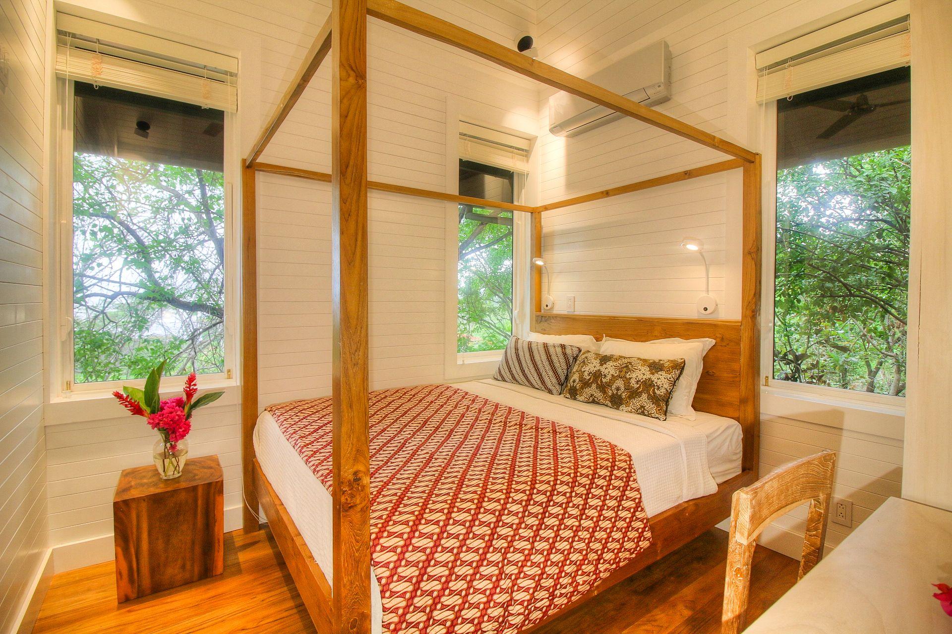 Ample windows reveal tree-top jungle panorama