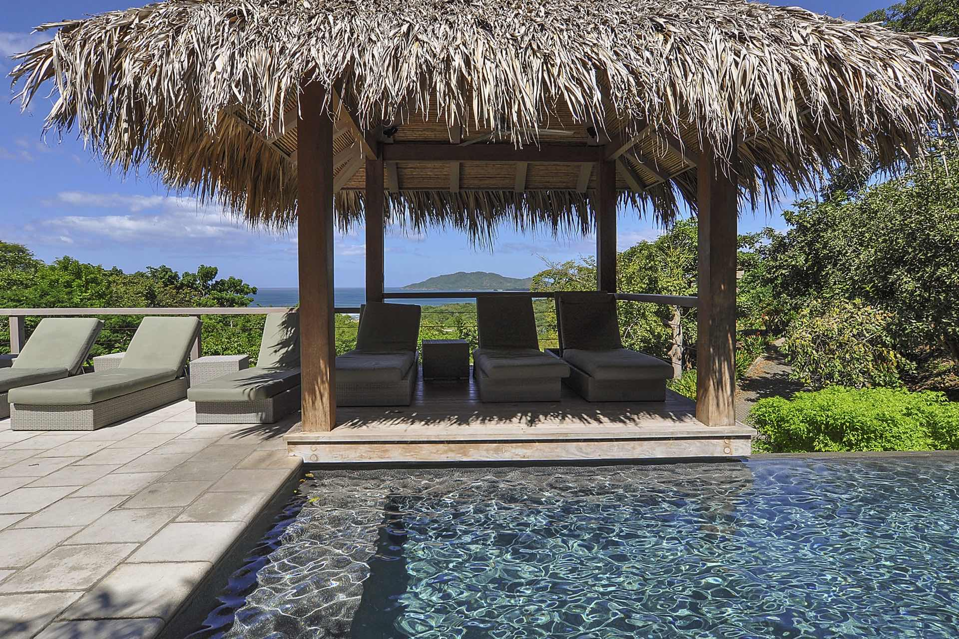 Small palapa next to pool