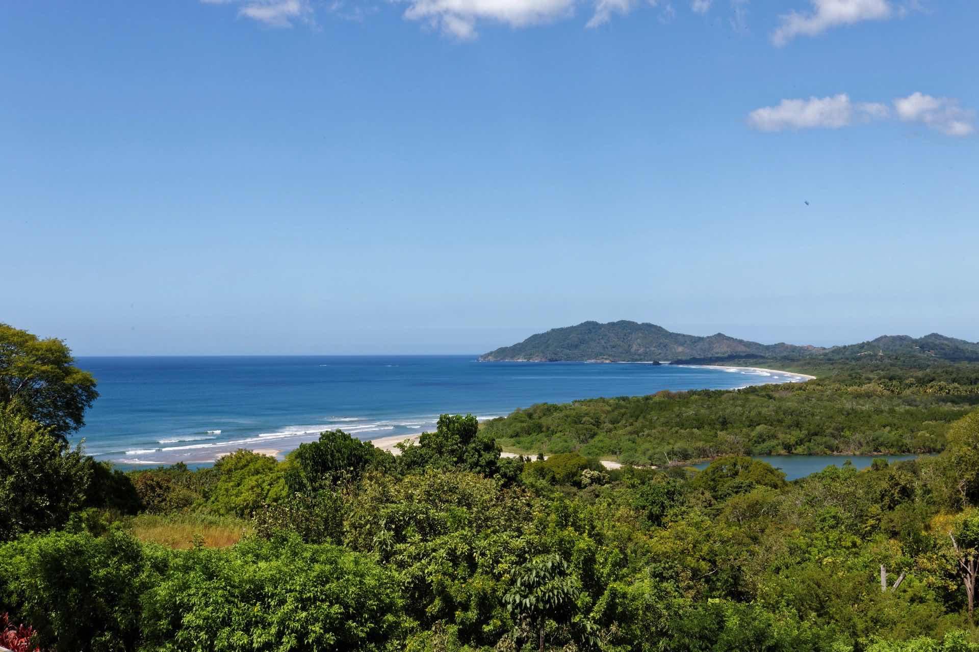 View of Tamarindo Bay and Las Baulas estuary