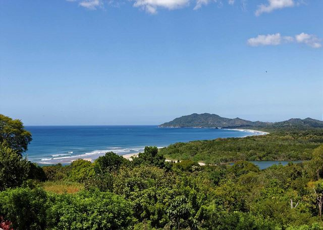 View of Tamarindo Bay and Las Baulas estuary