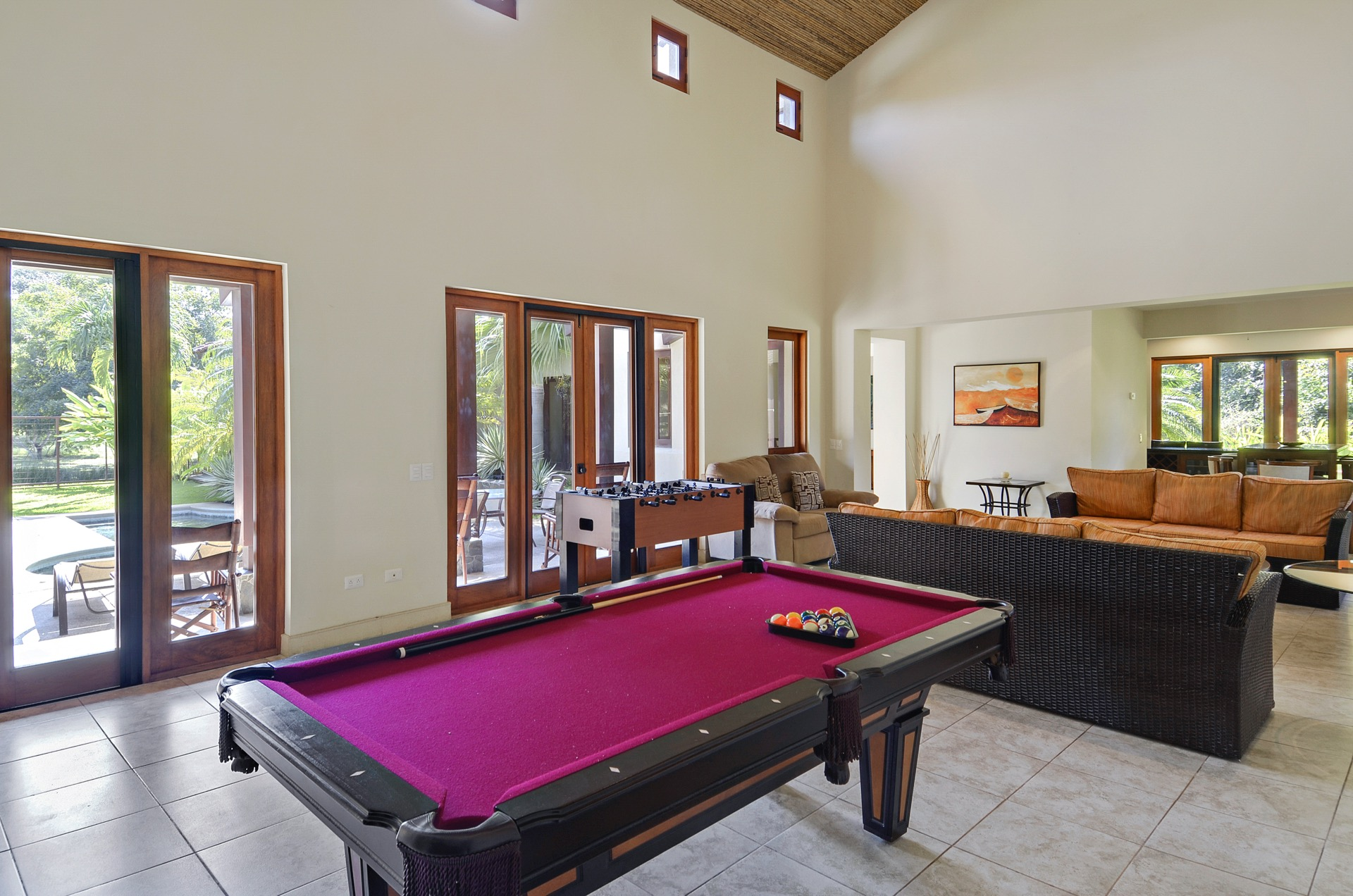 High ceilings and natural light shine our home