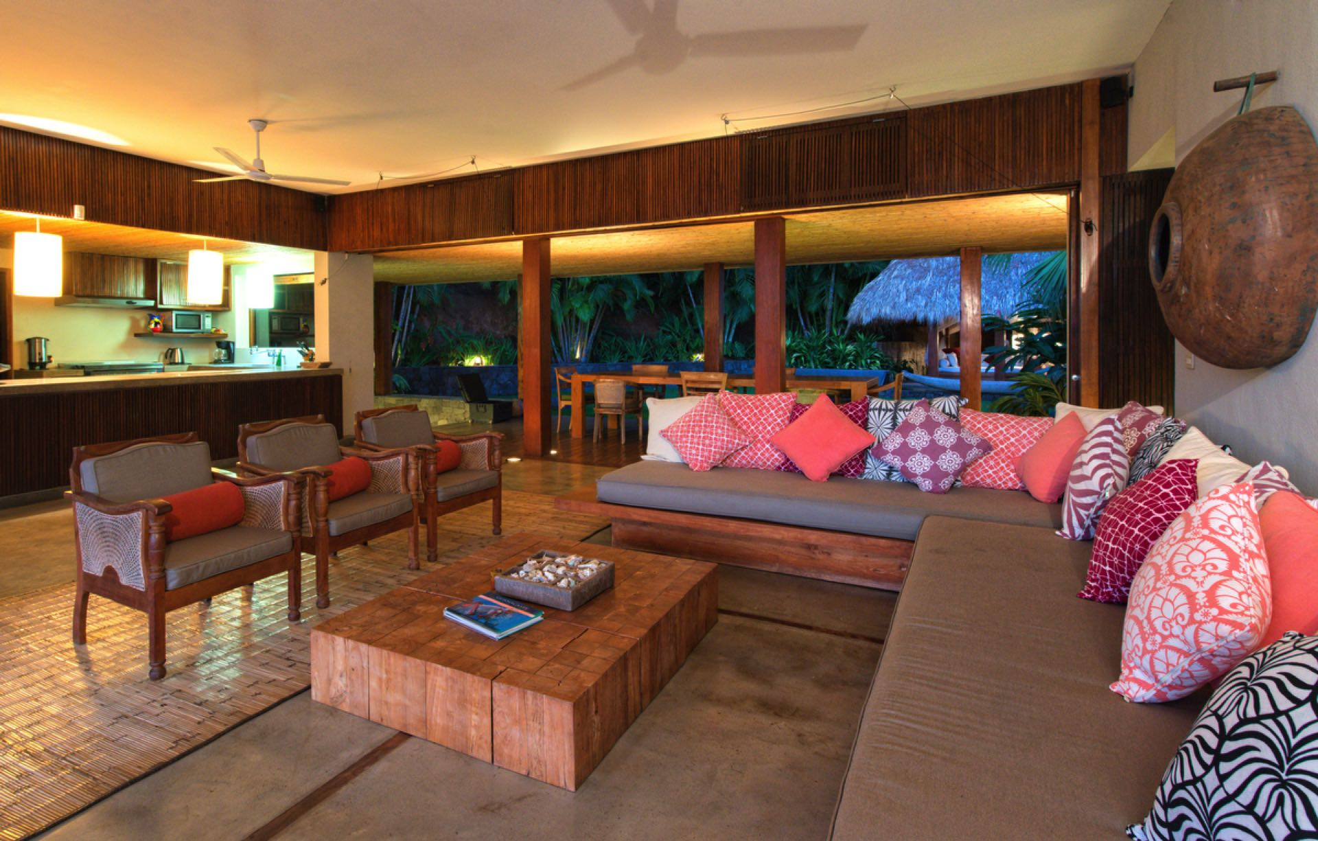 Spacious common area will accommodate your whole group