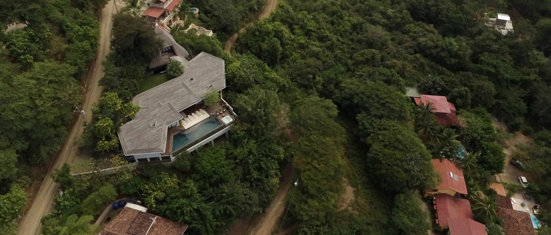 Casa Puros Dieces aerial view