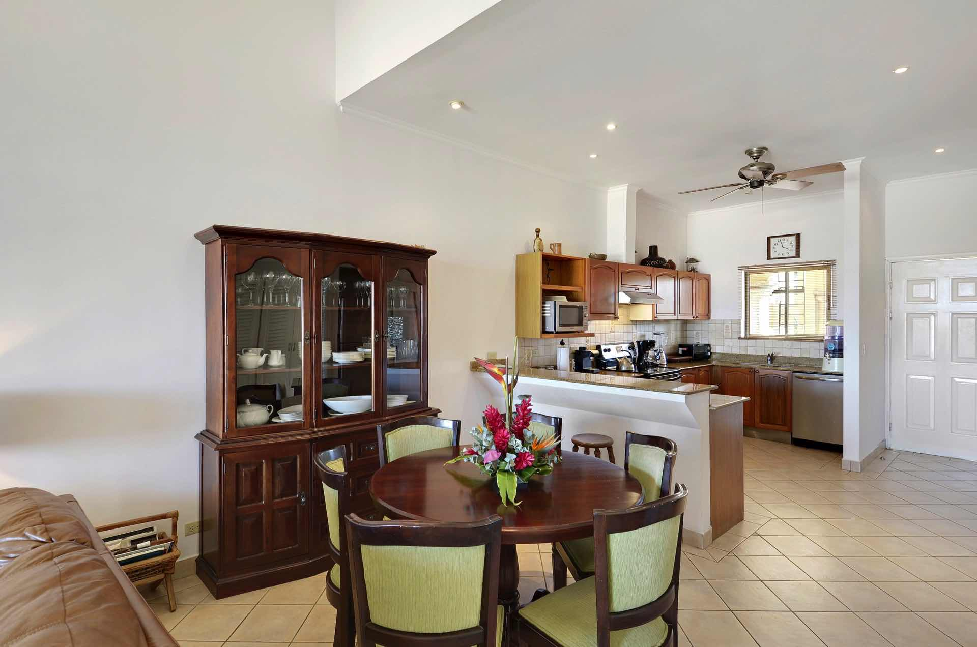 Homey kitchen and dining area
