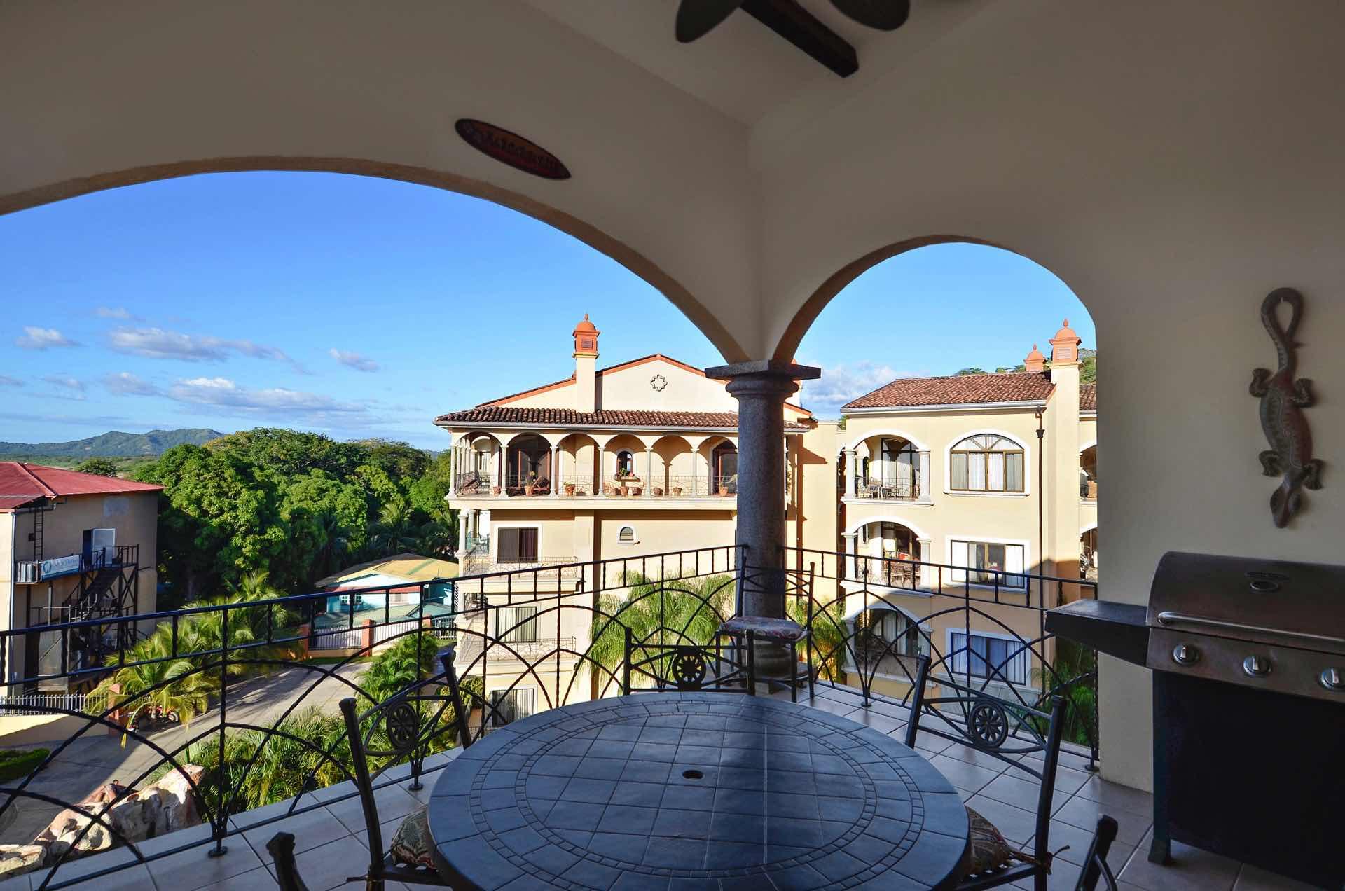 Big balcony with BBQ