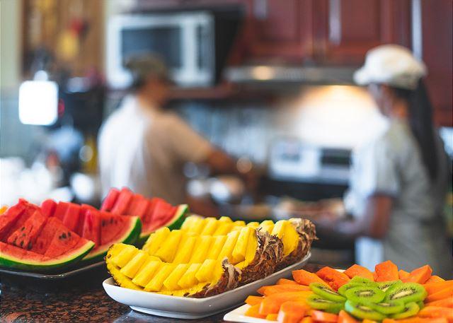 Wake up to breakfast being prepared by Villa Tranquila's pri