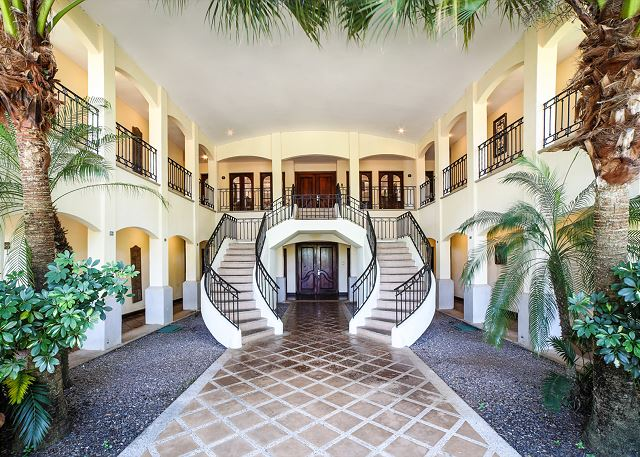 Elegant stairs leading up to the second floor