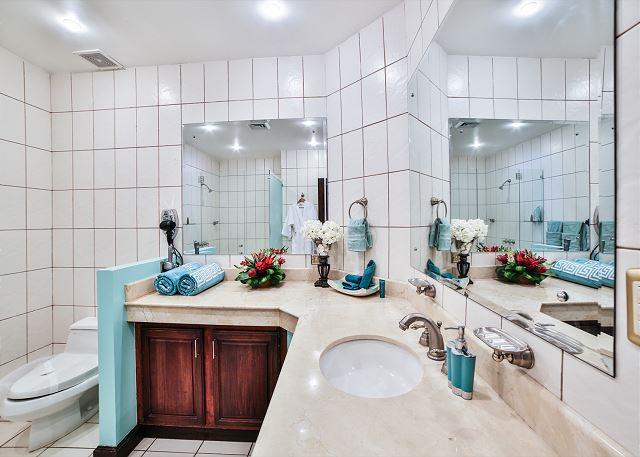 Large modern bathrooms provide the luxury you seek