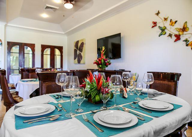 Beautifully set tables