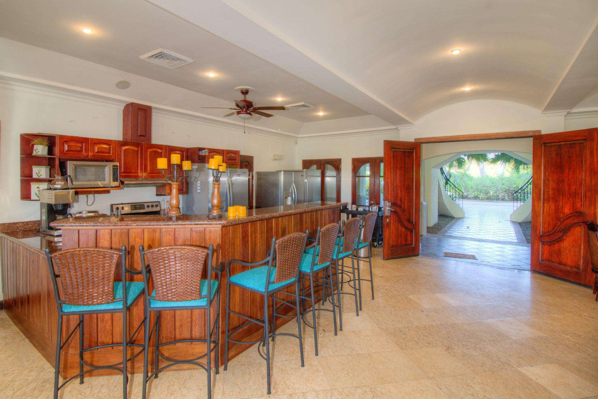 Ground floor kitchen with bar seating