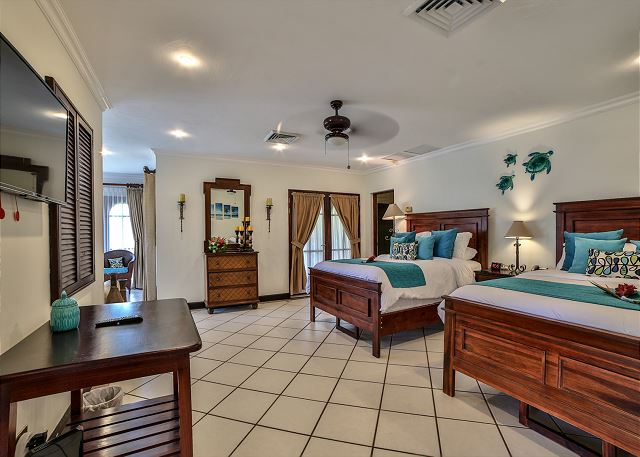 Large bedrooms with flat screen tv's